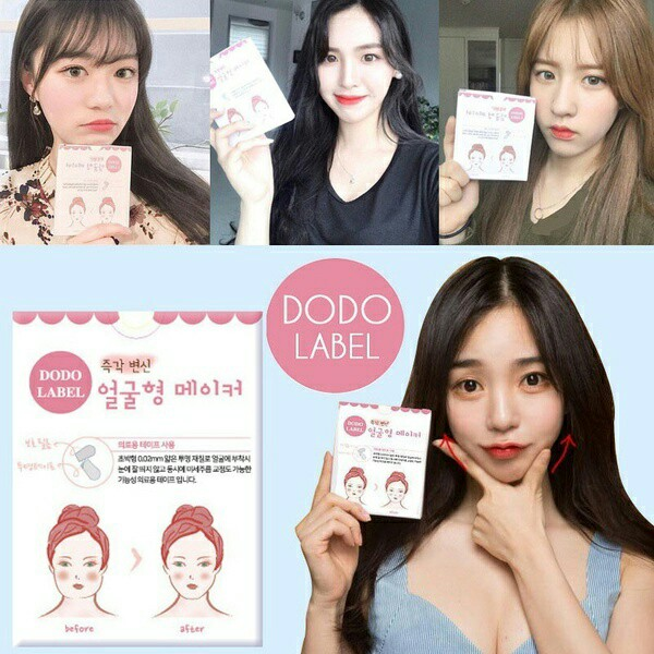 Dodo Label Face Maker Lifting Tape 40stickersbox Korean Face