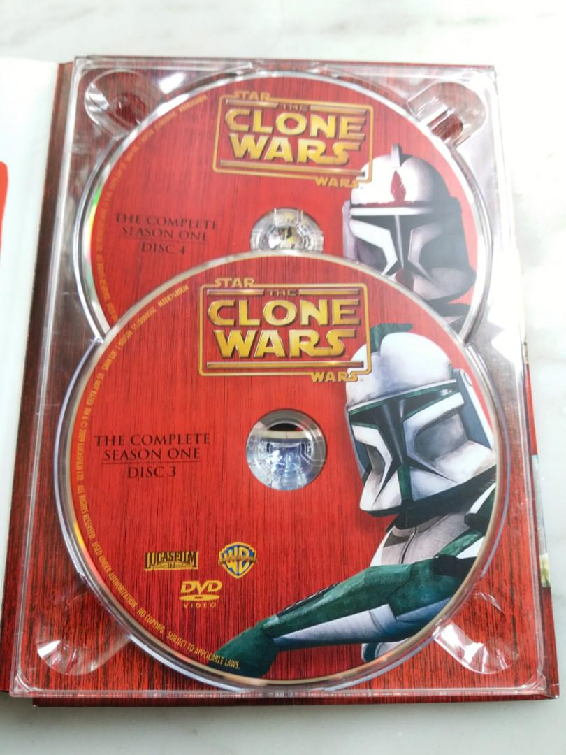 (LUNA NEW YEAR BIG SALE )DVD STAR WARS THE CLONE WARS (THE COMPLETE SEASON ONE)
