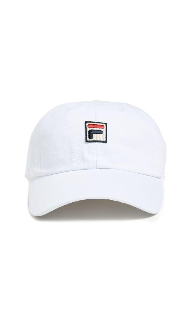 4b5cabc8051 Fila White Baseball Cap