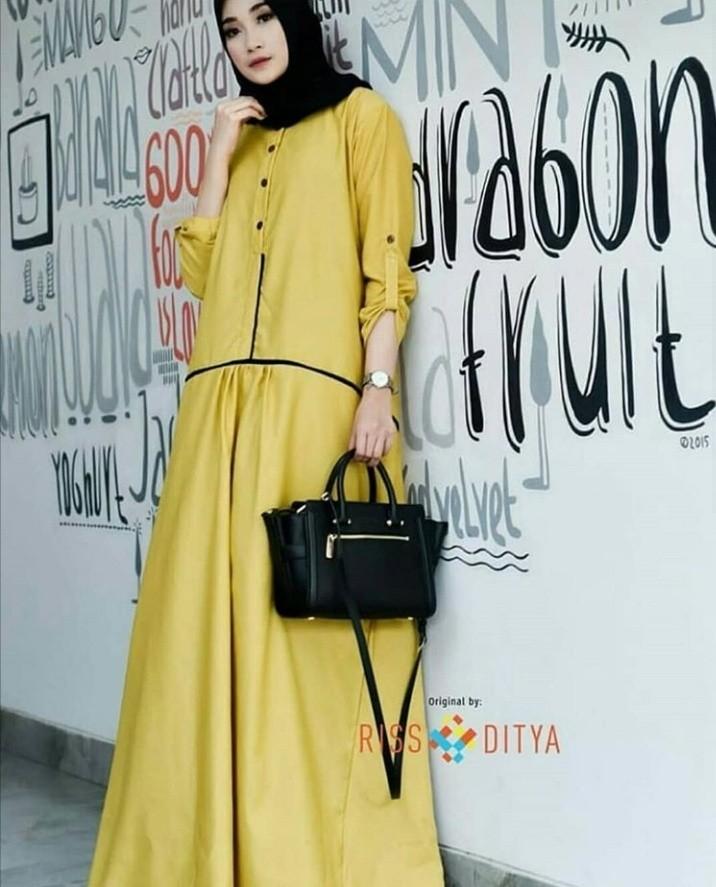 Gamis Kuning 135 Olshop Fashion Olshop Muslim Di Carousell
