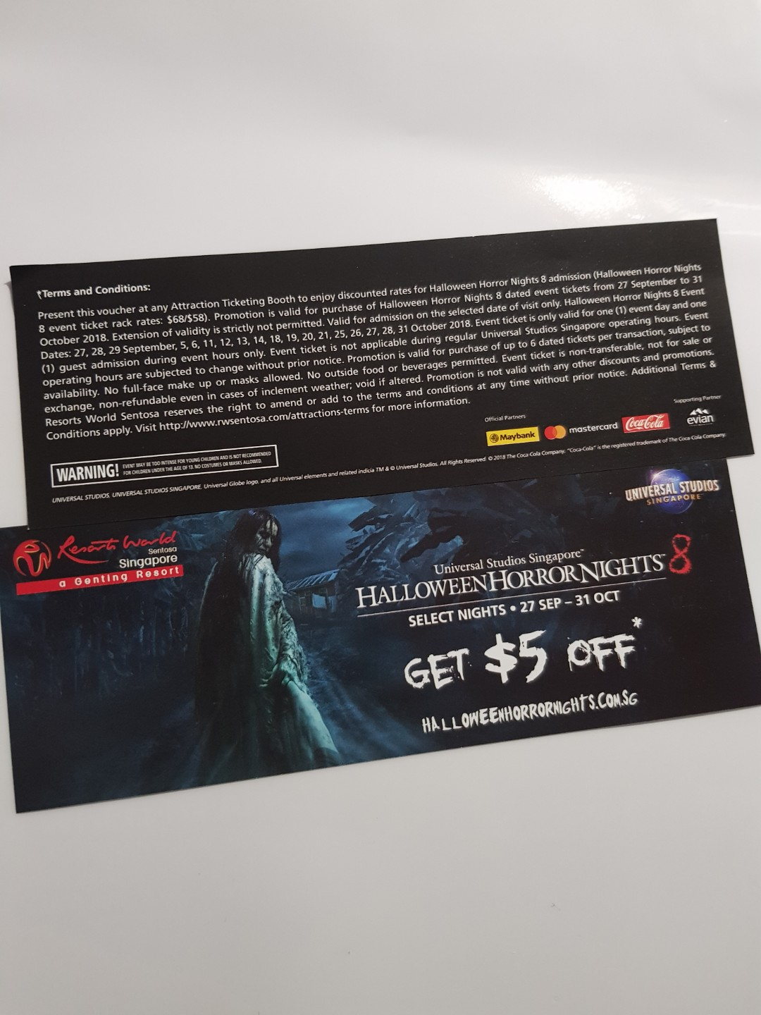 Halloween Horror Nights 8 5 Off Voucher Entertainment Gift Cards Singapore Duck Tour Vouchers On Carousell
