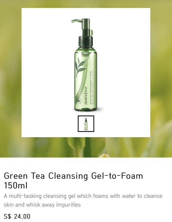 d9732077faf Innisfree Green Tea Gel To Foam cleanser