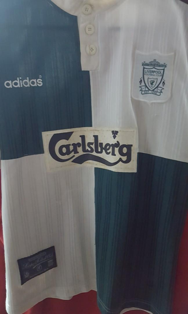 new product 62f2c 7ea95 Liverpool 95/96 Away jersey, Sports, Sports Apparel on Carousell