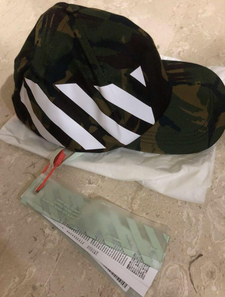 df429d994 Off White Camo Cap, Men's Fashion, Accessories, Caps & Hats on Carousell