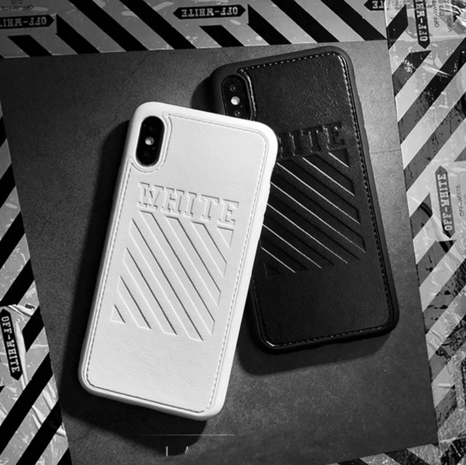 timeless design 99af6 68ab9 Off White Stripe Leather iPhone Case Streetwear Fashion cool