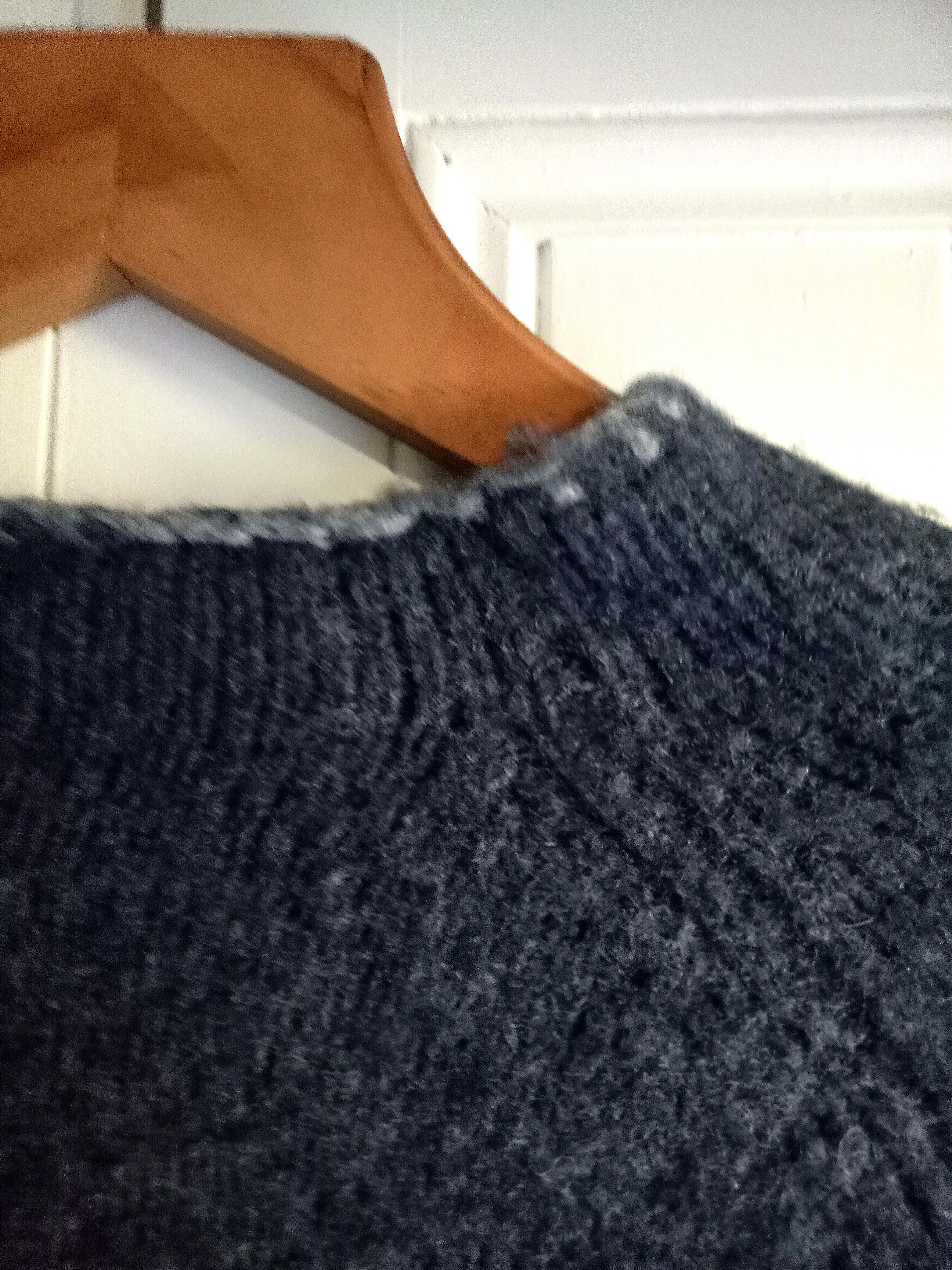 Oversized thick navy jumper