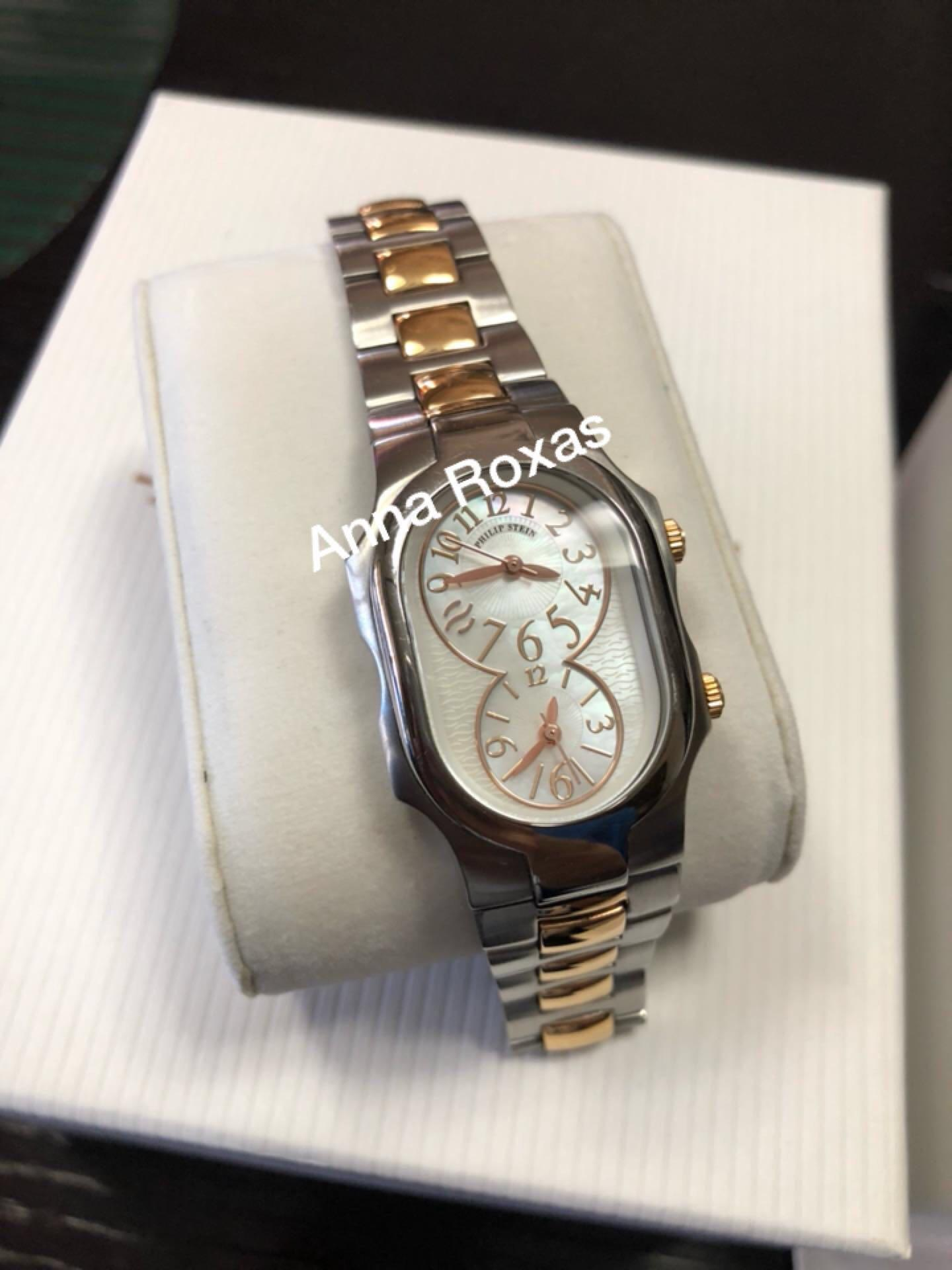 Philip Stein Ladies' Small Signature Mother of Pearl Watch