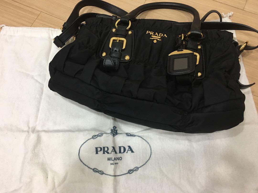 fd5fc726254c ... uk prada tessuto gaufre satchel bag authentic barangan mewah beg dan  dompet di carousell 14c05 fcf92