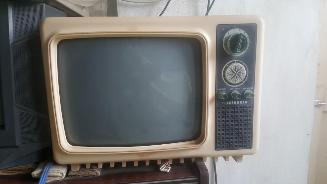 RARE Vintage Telefunken B&W mini TV set