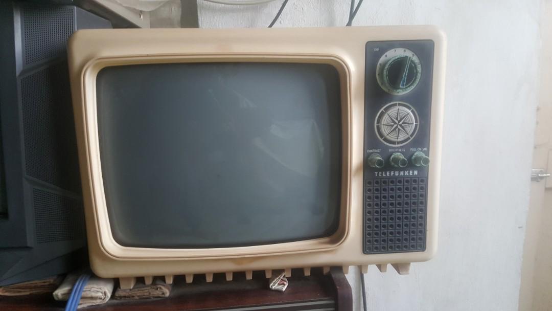 RARE Vintage Telefunken B&W mini TV set, Vintage