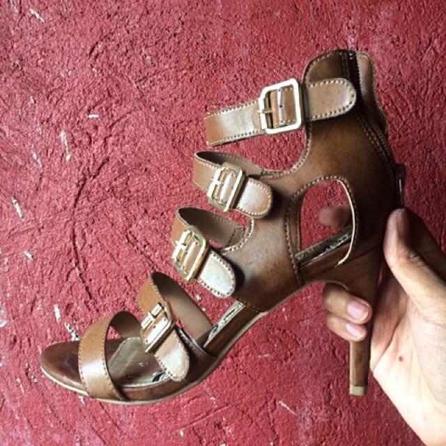 cf18d1ae3 SALE! Montego Bay Club Gladiator Leather Heels