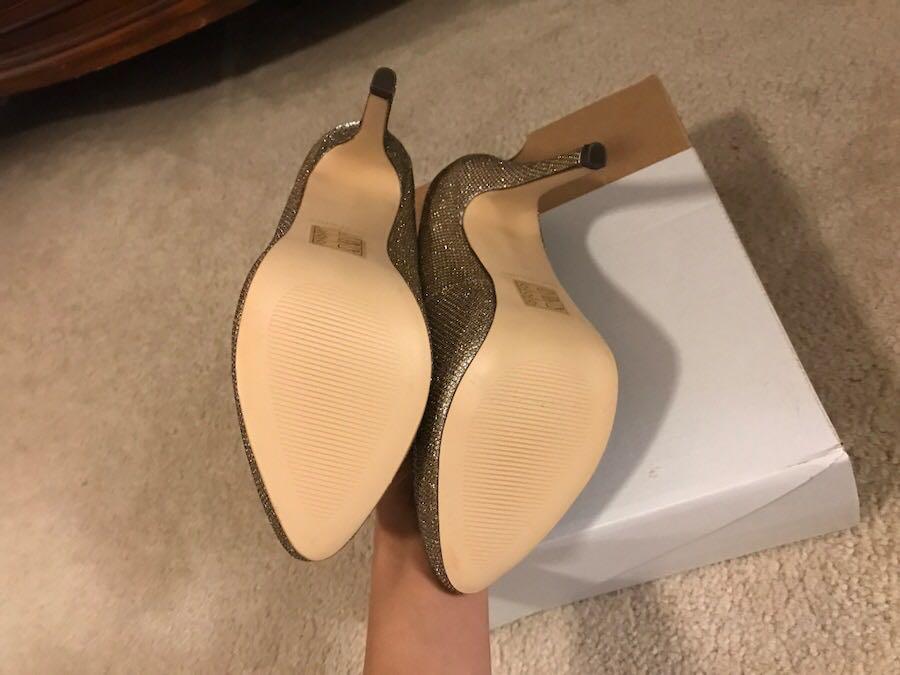 Spring golden heels- never worn