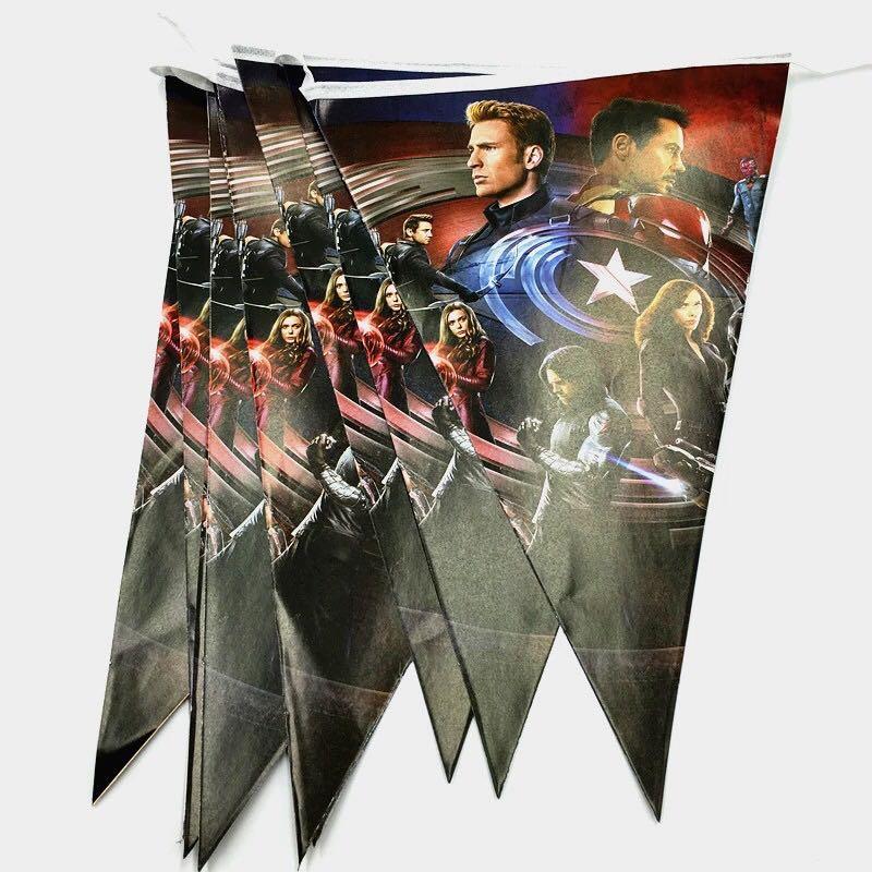 Superheroes Civil War Avengers Party Supplies Avengers Banner
