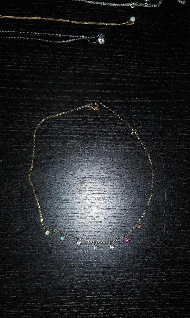 Swarovski ATTRACT CHOKER MULTI-COLOURED GOLD PLATING EUC