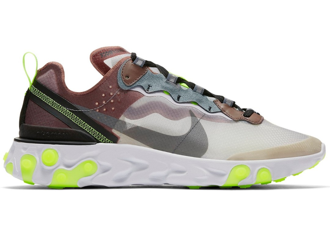 2cd296e7a8b9 IN HAND WTS AUTHENTIC NIKE REACT ELEMENT 87 SAND GREEN US 9.5