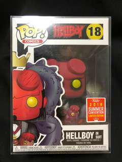 🚚 Funko Pop Hellboy In Suit SCDCC Conventions Exclusive