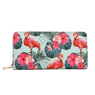 Flamingo Ladies Long Zip Wallet / Purse