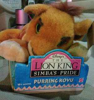 Disney the lion king simba's pride purring kovu 獅子王 公仔 迪士尼 代放