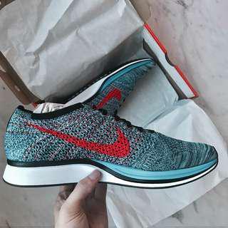 🚚 Nike Flyknit Racer Crimson Blue