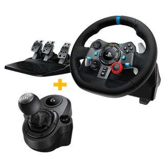 LOGITECH G29 WITH SHIFTER NEW AND SEALED 2 YEARS WARRANTY