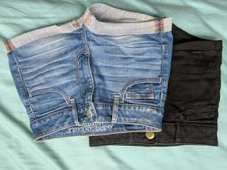 American Eagle shorts (both for $3)