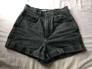 American Apparel Denim Mom Shorts