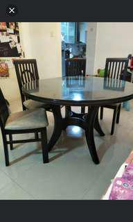 Solid Wood Dinning Sets Table & 6 chairs