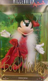 Disney Millennium Minnie Mouse Doll with Bob Mackie gown 米尼 千禧 迪士尼 公仔 代放