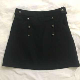 Topshop Military High Waisted Skirt UK6