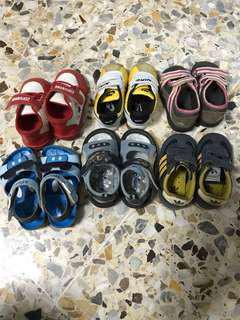 Bundle sale: 6 pairs of toddler shoes