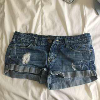 Denim Distressed Shorts Size Medium