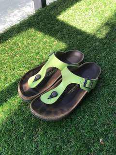 birkenstocks: (light green)