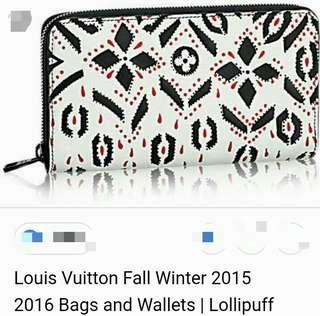 L-V Graphic Zip Around Wallet
