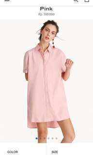 Pomelo fashion pink shirt dress