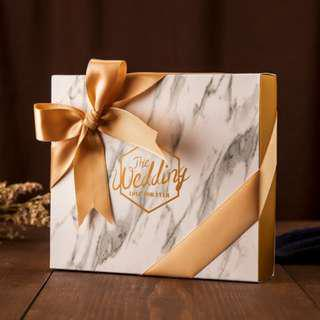 🚚 Instock Marble Box with ribbon