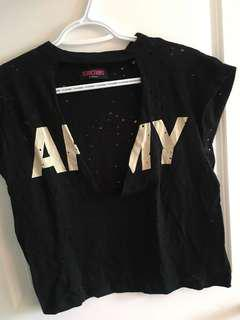 Low cut ARMY tee