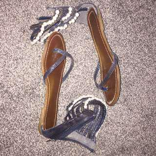 Pearl Blue Sandals (SIZE 7)