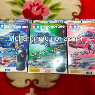 WRC RC TAMIYA MINI 4WD VOL 1-3 COMPLETE