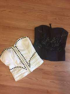 Lot of 2 bustier  Small