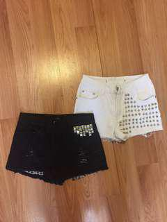 Lot of studded shorts size small