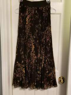 Aritzia Wilfred terre silk maxi skirt XS