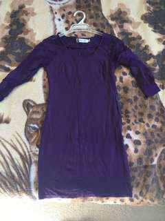 Purple tight dress