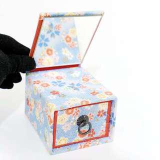 🚚 日本和風收納盒 小抽屜 鏡子收納盒 紀念品 擺飾 日本帶回