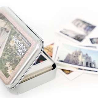 🚚 韓國拍立得鐵盒明信片組 韓國 拍立得 鐵盒 明信片 卡片 標籤 紀念品
