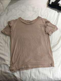 Top shop shirt with ruffles size 6 fits small/ medium
