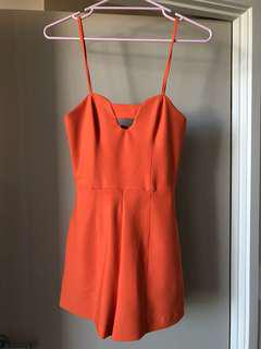 KOOKAI ORANGE PLAYSUIT