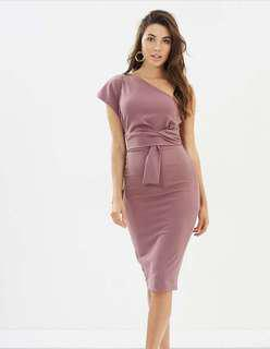 PASDUCHAS Grape One Shoulder Dress