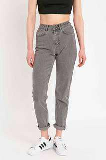 BDG ash grey mom jeans