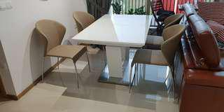 Harvey Norman set of 4 dining chairs (excludes table)