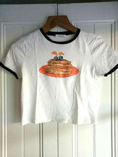Zara cropped pancake top